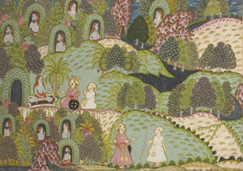 garden-and-cosmos-royal-paintings-of-jodhpur