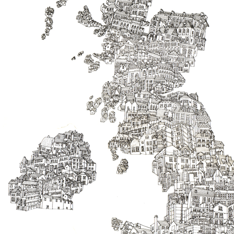 map of the UK_A2