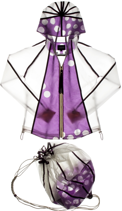 Purple and White Jacket with matching bag 006
