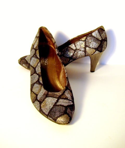 vintage shoes goldnsilver