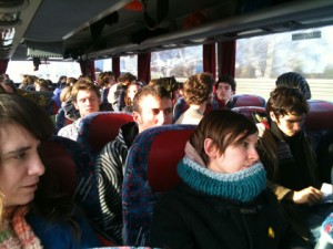 the Climate Camp coach. a bus load of fun, honest