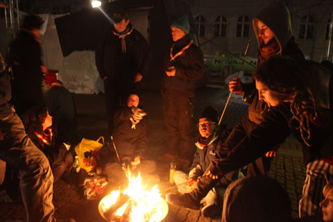 Klima Camp - Danish scouts camped out in central Copenhagen!