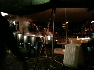 cooking for lots of people in Christiania