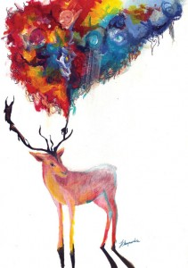 Deer at On/Off by June Chanpoomidole