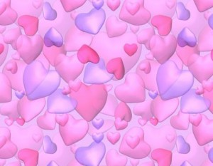Pink kitsch hearts