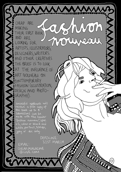 cheapzine art nouveau book
