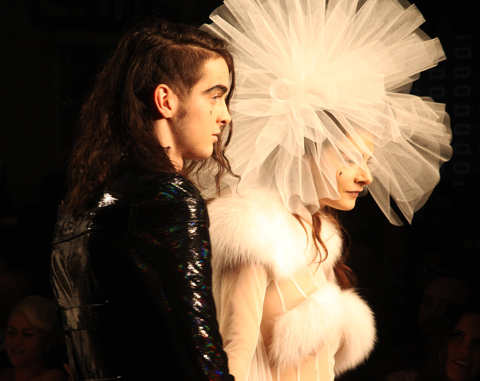 Sophie Willing and Jethro Cave at Pam Hogg