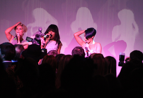 Sugababes performing at the On/Off party.