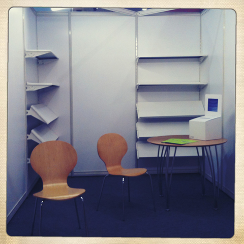 London Book Fair- empty stands due to volcano
