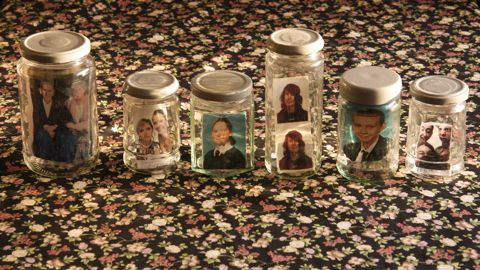 Photos inside jam jars