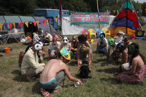 Glastonbury 2010 Climate Camp animal outreach