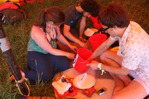 Glastonbury 2010 Climate Camp fundraising