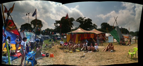 Glastonbury 2010 Climate Camp Lulu and the Lampshades