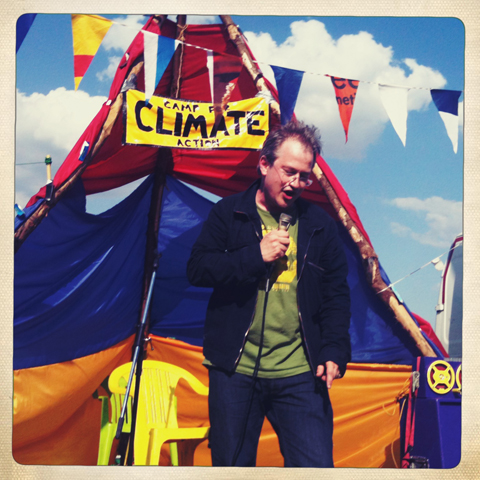 Glastonbury 2010 Climate Camp Robin Ince