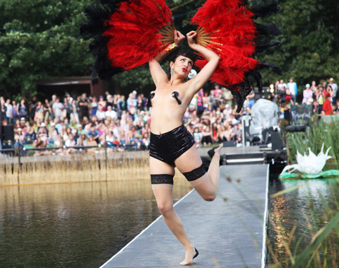Latitude 2010-Coco de Mer burlesque dancer by Amelia Gregory