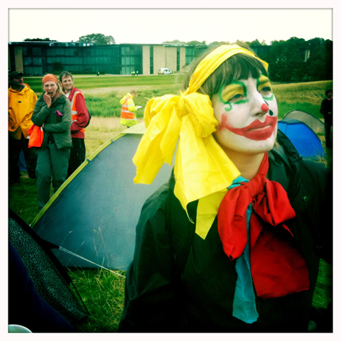 Climate Camp 2010-scary clown