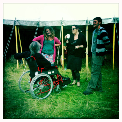 Climate Camp 2010-wheelchair