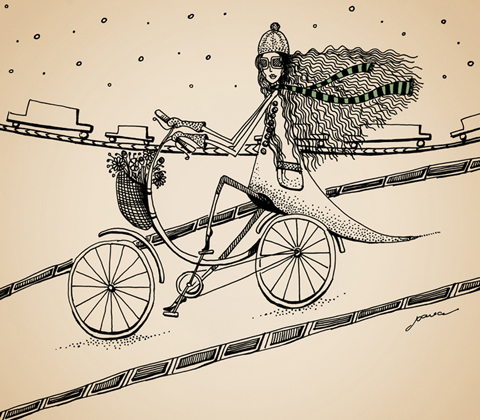 Winter Cycling by Joana Faria