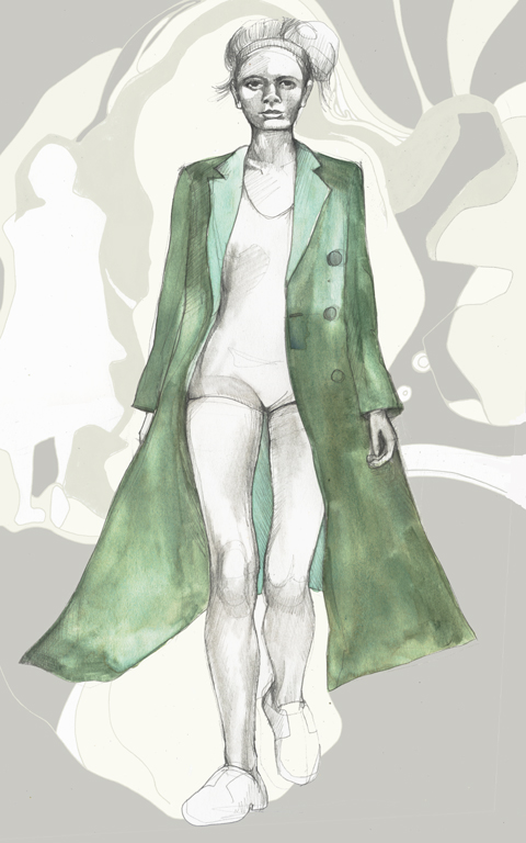 Daks Spring Summer 2011 fashion illustration by Abi Daker