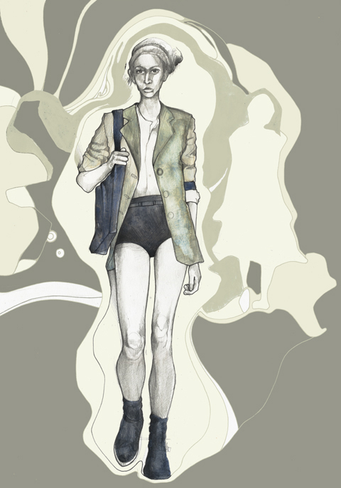 Daks Spring Summer 2010 collection illustration by Abi Daker