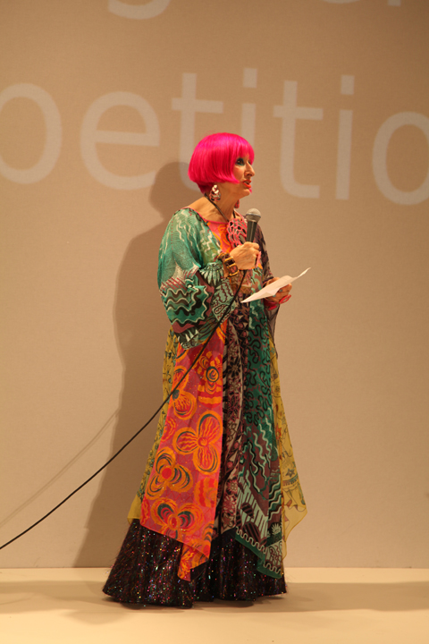FAD junior awards 2010 Zandra Rhodes photo by Amelia Gregory