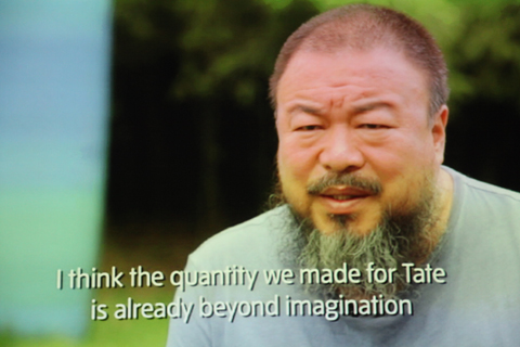 Ai Weiwei Tate-video still photo by Amelia Gregory
