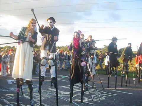 Crude Awakening day of the dead stilt Jody Boehnert