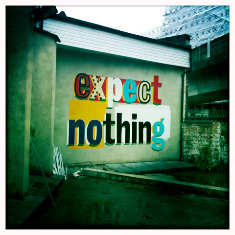 Deptford X Festival Expect Nothing mural