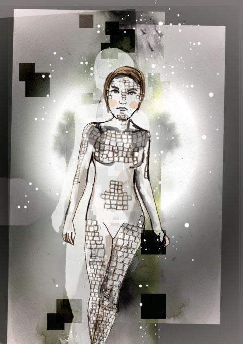 LFW-onoff-JOCHEUNG disco mannequin