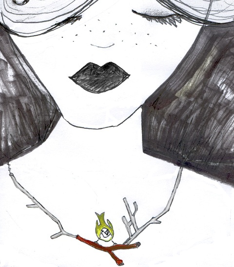 Necklace by Alison Haddon, illustration by Rosie Shephard