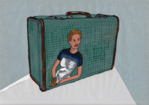 Suitcase by Lisa Tilley, illustration by Antonia Parker