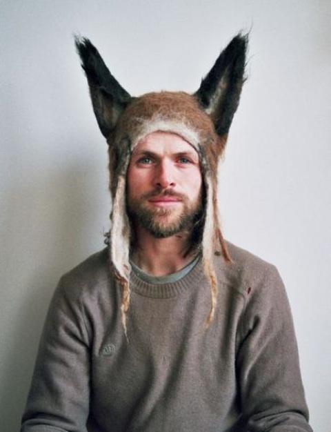 Felt fox hat by Barbara Keal