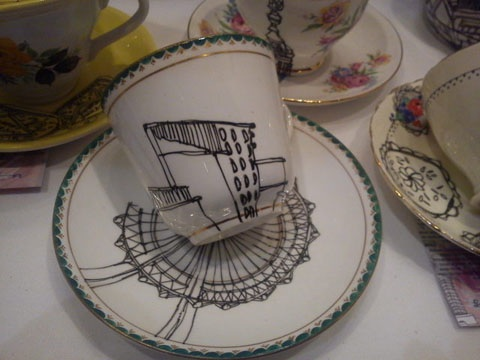 Cup and saucer by Esther Coombs