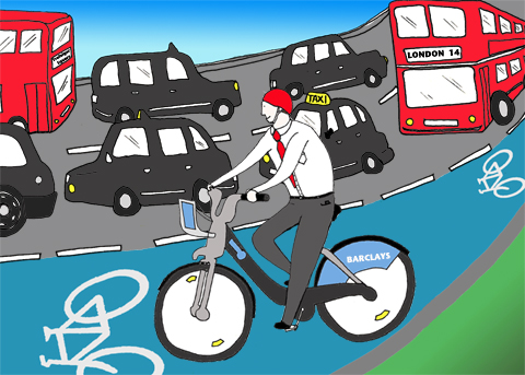 London bike scheme by Carla Bromhead
