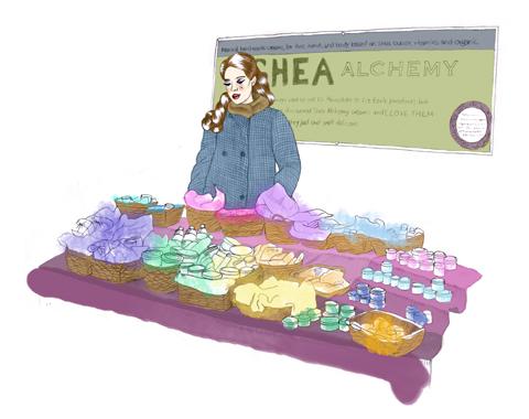 Shea Alchemy Stall by Charlotte Hoyle