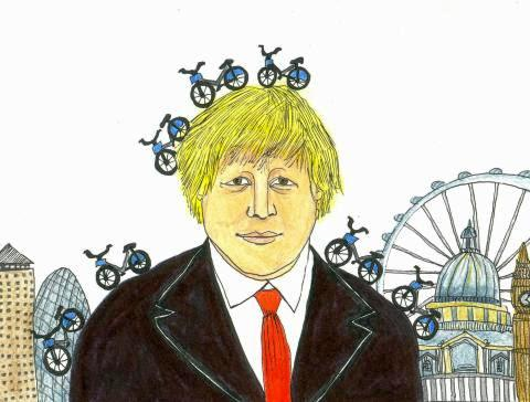 boris johnson by daria hlazatova