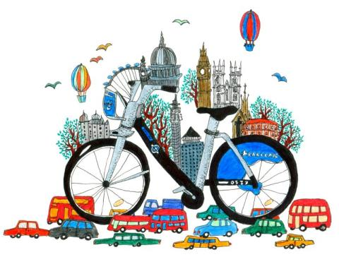 london borisbike by daria hlazatova