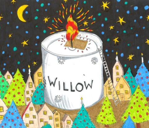 Willow candle by daria hlazatova