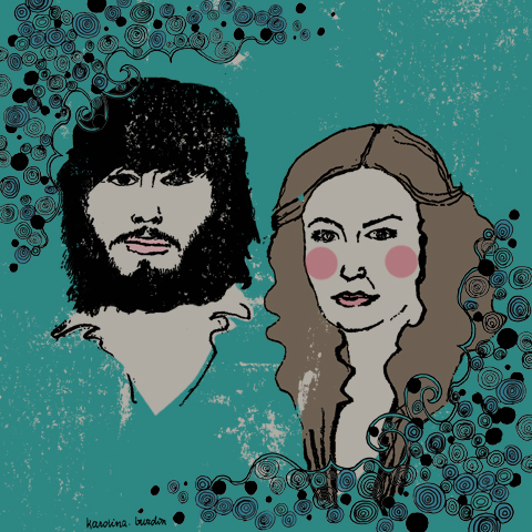 Angus and Julia Stone by Karolina Burdon
