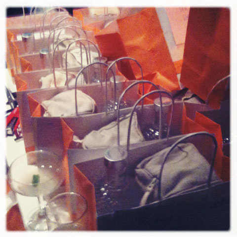 Dr.Hauschka goodie bags at The First To Know launch party