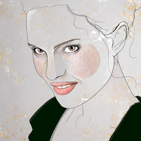 Natalie Portman Illustration by Abby Wright