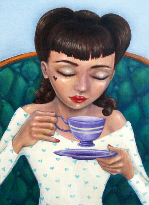 Peppermint Patty. An oil painting by Artist Andrea