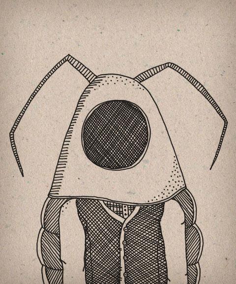 Cockroach man by Sarah Matthews