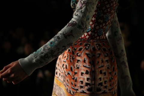 Mary Katrantzou A/W 2011. Photography by Amelia Gregory