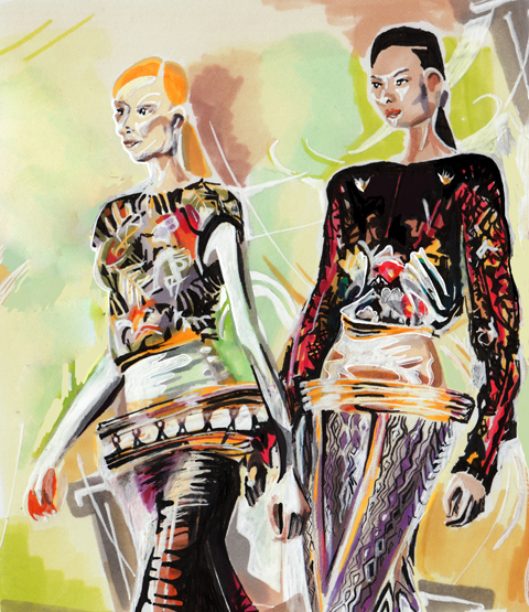 Mary Katrantzou A/W 2011 by Ellie Sutton