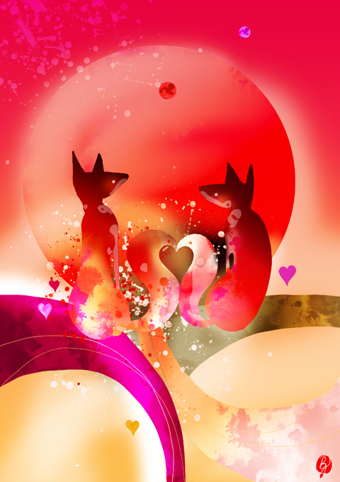 valentines foxes by bex glover