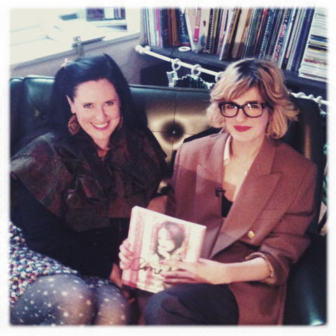 Amelia Gregory and Ani Saunders with Amelia's Compendium of Fashion Illustration