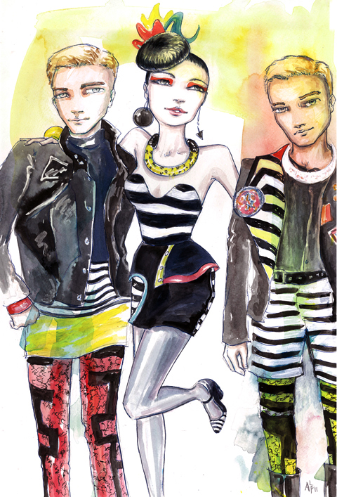 KTZ groupies by Andrea Peterson, aka Artist Andrea