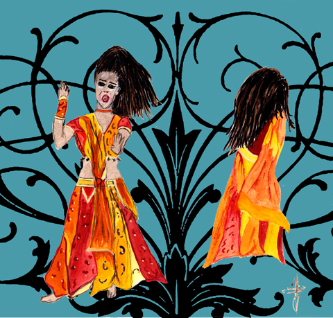 Bollywood dancing by Jane Young