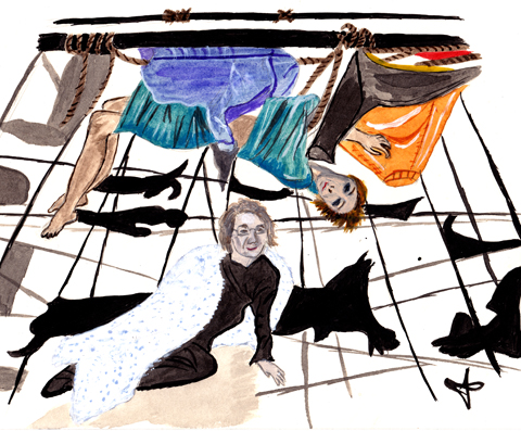Live Performance Illustration by Jane Young
